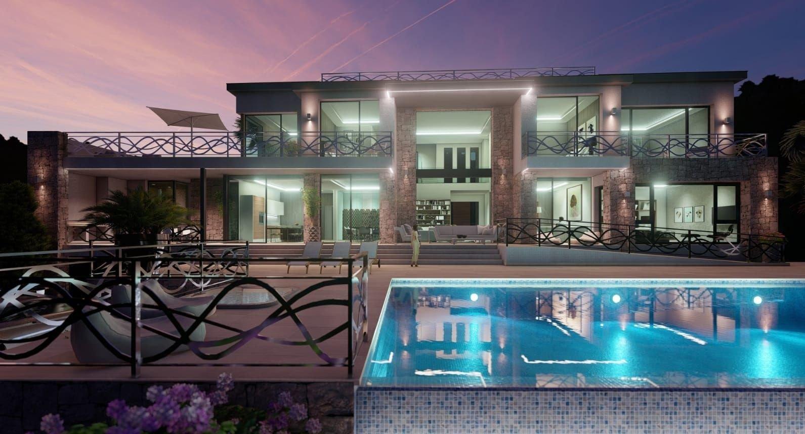 Villa de lujo en la primera línea del mar en Calpe